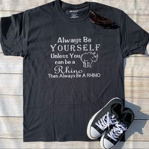 Be Yourself Or Be A Rhino Kids Graphic Shirt